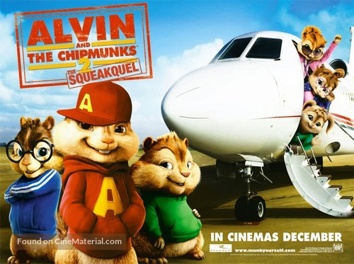 Alvin and the Chipmunks: The Squeakquel - British Movie Poster