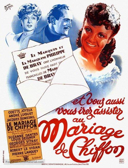 Mariage de Chiffon, Le - French Movie Poster