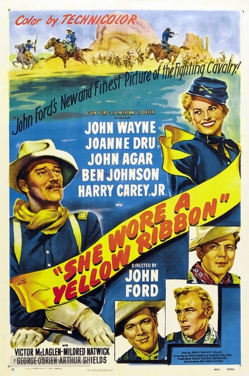 She Wore a Yellow Ribbon - Movie Poster
