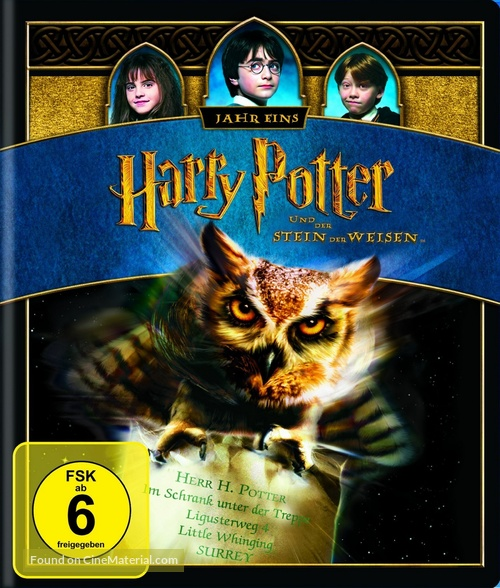 Harry Potter and the Sorcerer's Stone - German Blu-Ray movie cover