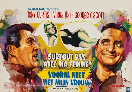 Not with My Wife, You Don't! - Belgian Movie Poster