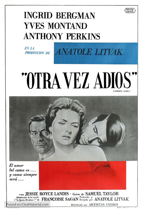 Goodbye Again - Argentinian Movie Poster
