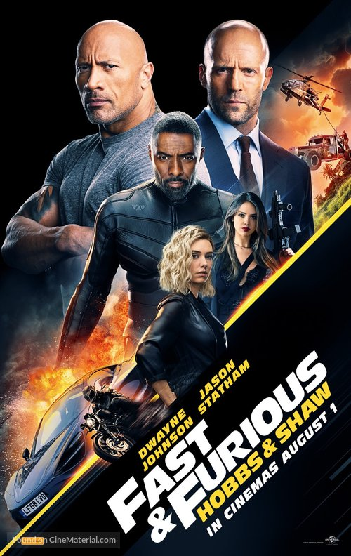 Fast & Furious Presents: Hobbs & Shaw - Australian Movie Poster