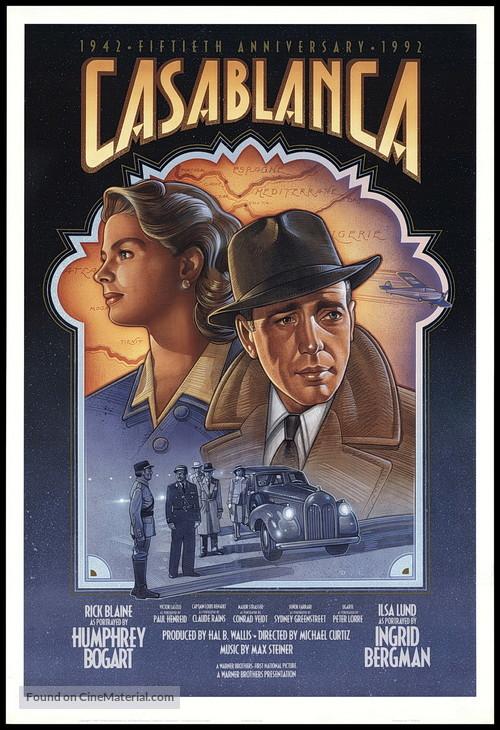 Casablanca - Re-release movie poster