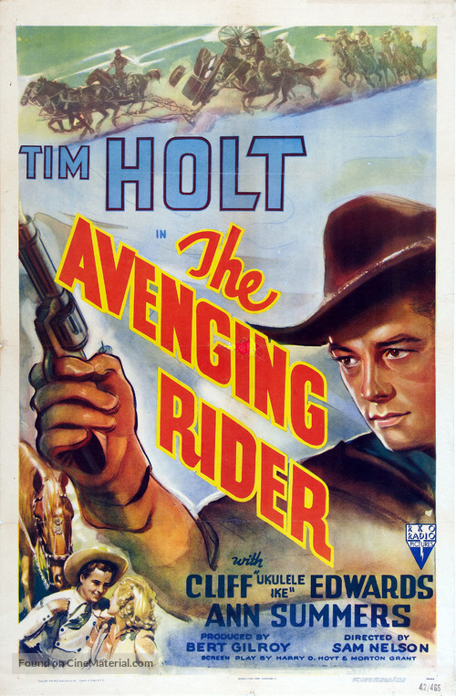 The Avenging Rider - Movie Poster