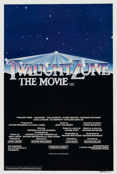 Twilight Zone: The Movie - Australian Movie Poster