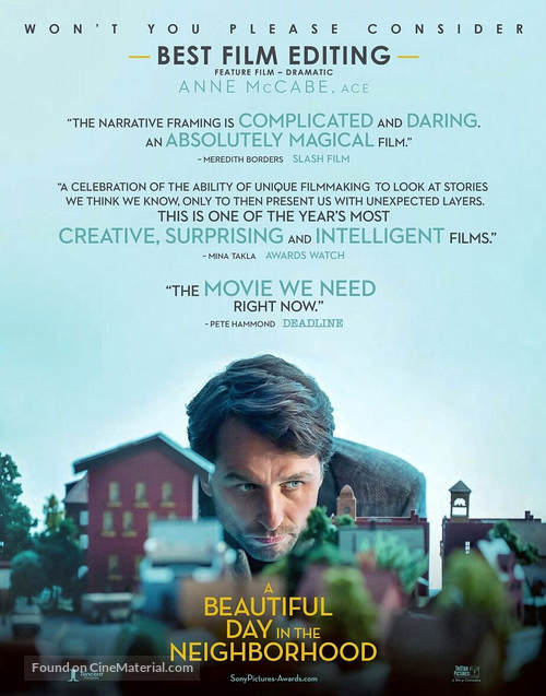 A Beautiful Day in the Neighborhood - For your consideration movie poster