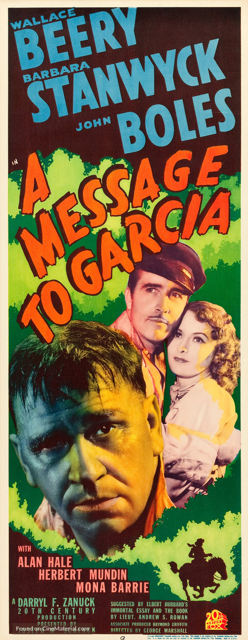 A Message to Garcia - Movie Poster