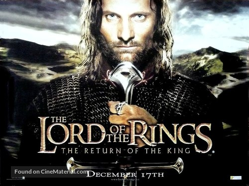 The Lord of the Rings: The Return of the King - British Movie Poster