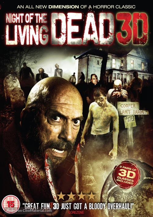 Night of the Living Dead 3D - British DVD cover