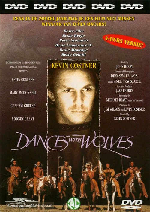 Dances with Wolves - Dutch DVD cover