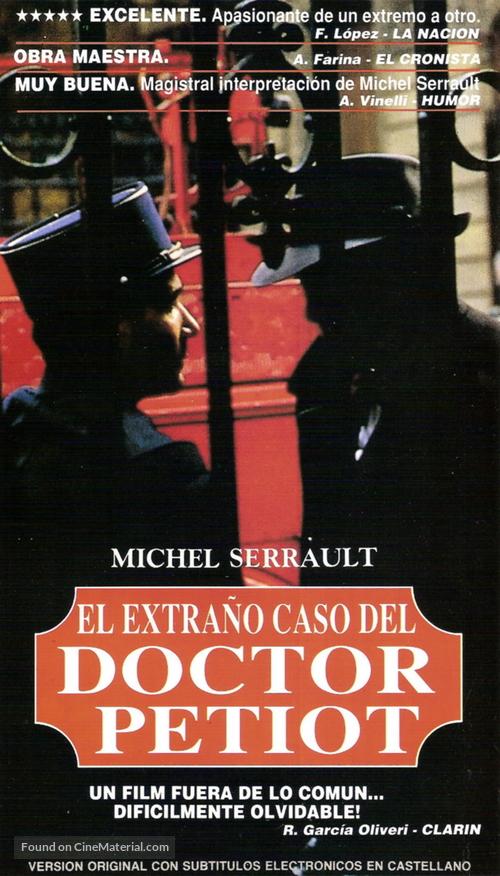 Docteur Petiot - Argentinian VHS cover