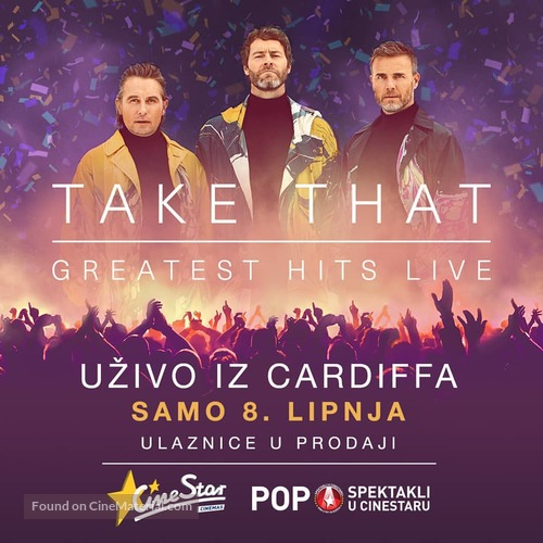 Take That - Greatest Hits Live (Concert) - Croatian Movie Poster