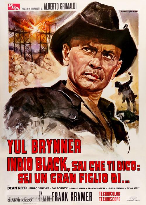 Indio Black, sai che ti dico: Sei un gran figlio di... - Italian Movie Poster