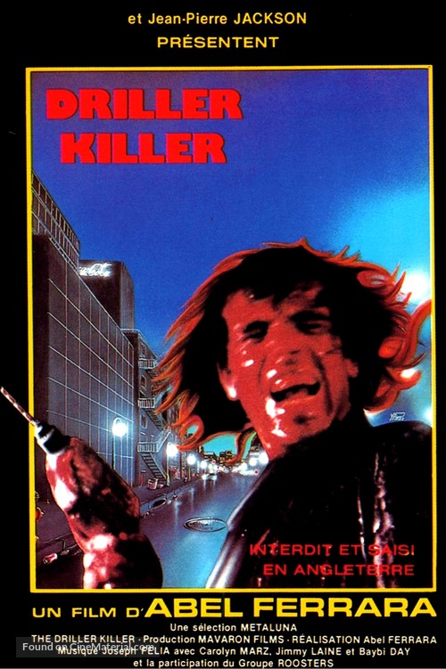 The Driller Killer - French Movie Poster