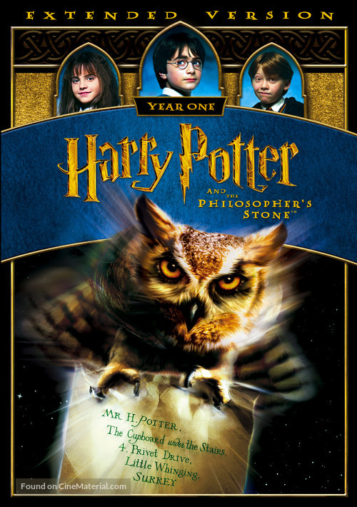 Harry Potter and the Sorcerer's Stone - British DVD movie cover