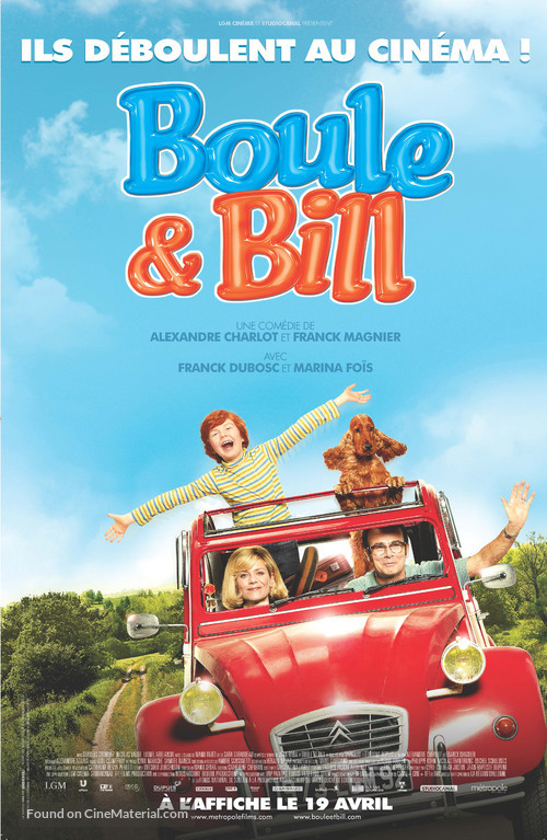 Boule et Bill - Canadian Movie Poster