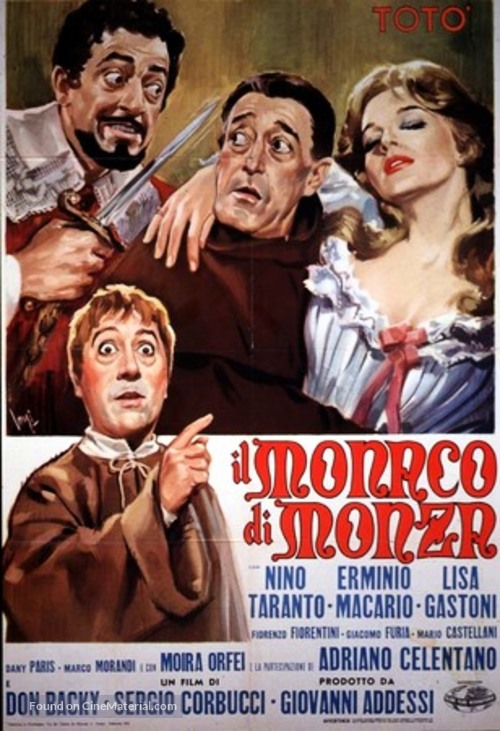 Il monaco di Monza - Italian Movie Poster
