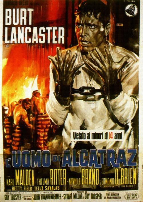 Birdman of Alcatraz - Italian Movie Poster