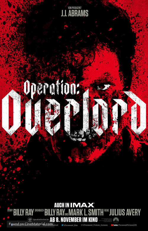 Overlord - German Movie Poster
