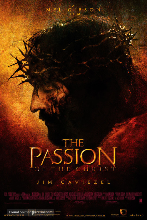 The Passion of the Christ - Belgian Movie Poster