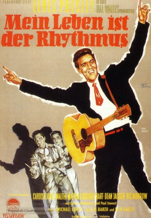 King Creole - German Movie Poster