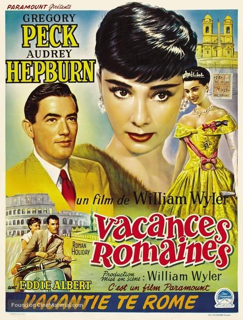 Roman Holiday - Belgian Movie Poster