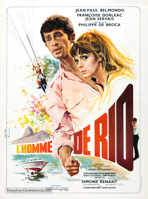 L'homme de Rio - French Movie Poster