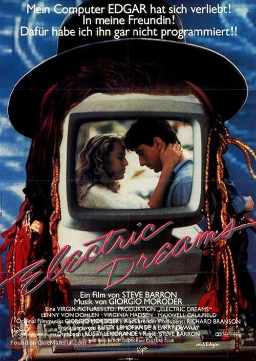 Electric Dreams - German Movie Poster