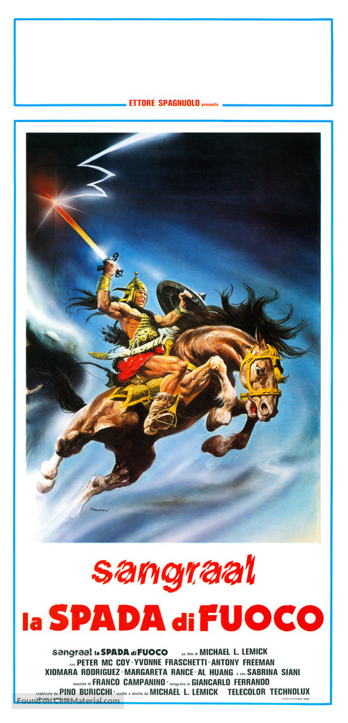 Sangraal, la spada di fuoco - Italian Movie Poster