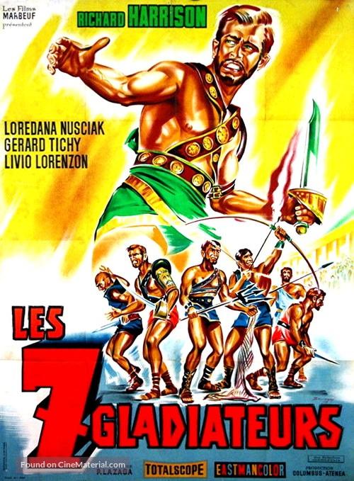 I sette gladiatori - French Movie Poster