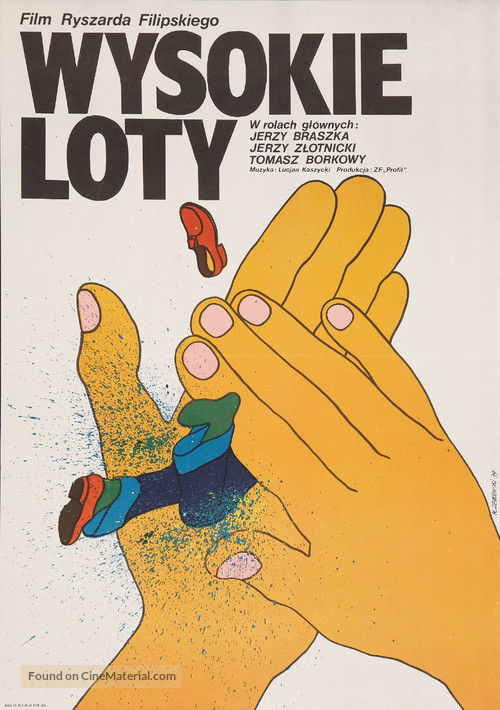 Wysokie loty - Polish Movie Poster