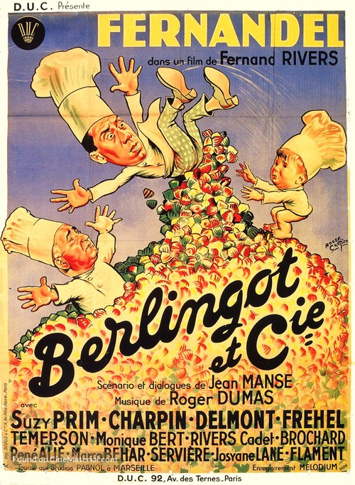 Berlingot et compagnie - French Movie Poster