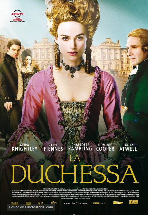The Duchess - Italian Movie Poster