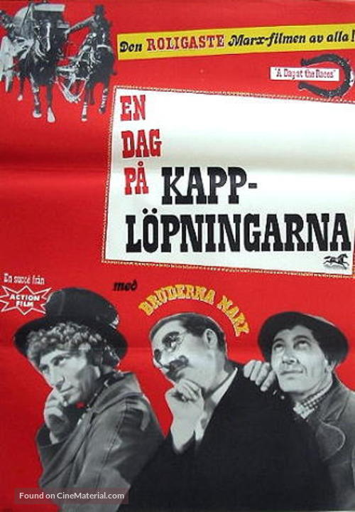 A Day at the Races - Swedish Movie Poster