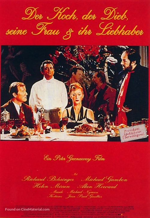 The Cook the Thief His Wife & Her Lover - German Movie Poster