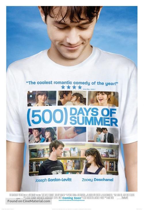 (500) Days of Summer - British Movie Poster