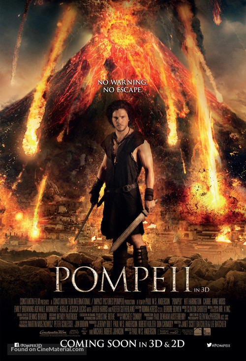 Pompeii British movie poster