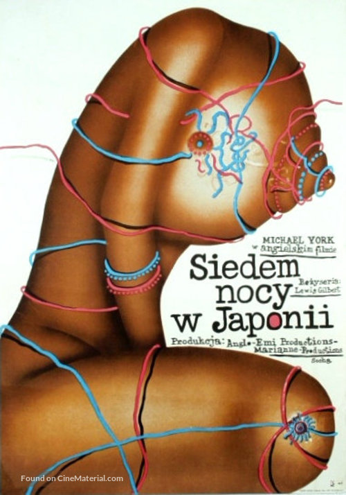 Seven Nights in Japan - Polish Movie Poster
