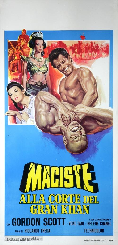 Maciste alla corte del Gran Khan - Italian Movie Poster