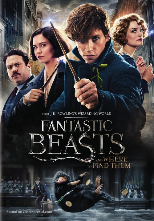 Fantastic Beasts and Where to Find Them - DVD movie cover