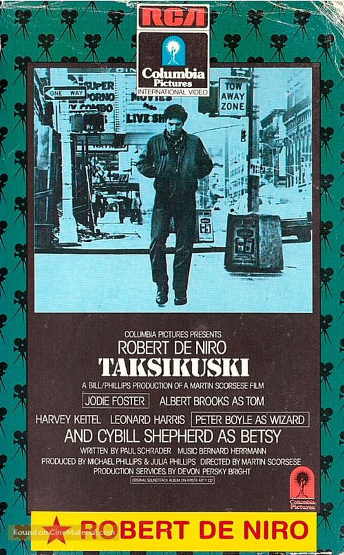 Taxi Driver - Finnish VHS cover