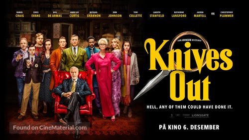 Knives Out - Danish Movie Poster