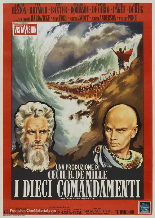 The Ten Commandments - Italian Re-release movie poster