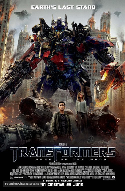 Transformers: Dark of the Moon - British Movie Poster