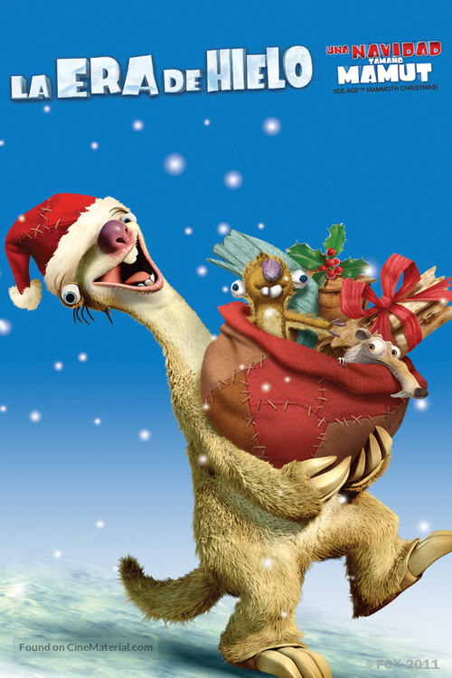 ice age a mammoth christmas mexican movie poster - Ice Age Mammoth Christmas