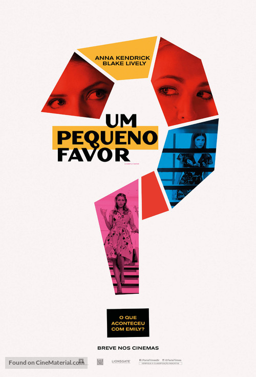 A Simple Favor - Brazilian Movie Poster