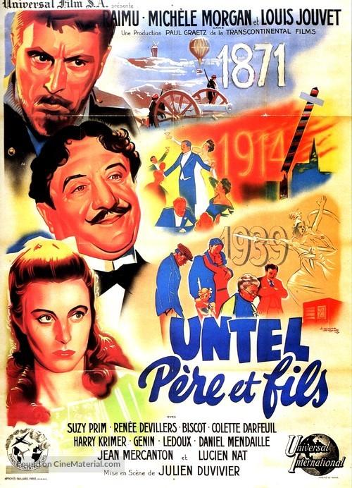 Untel père et fils - French Movie Poster