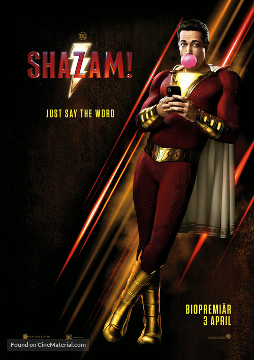 Shazam! - Swedish Movie Poster