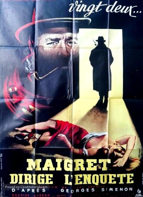 Maigret dirige l'enquête - French Movie Poster